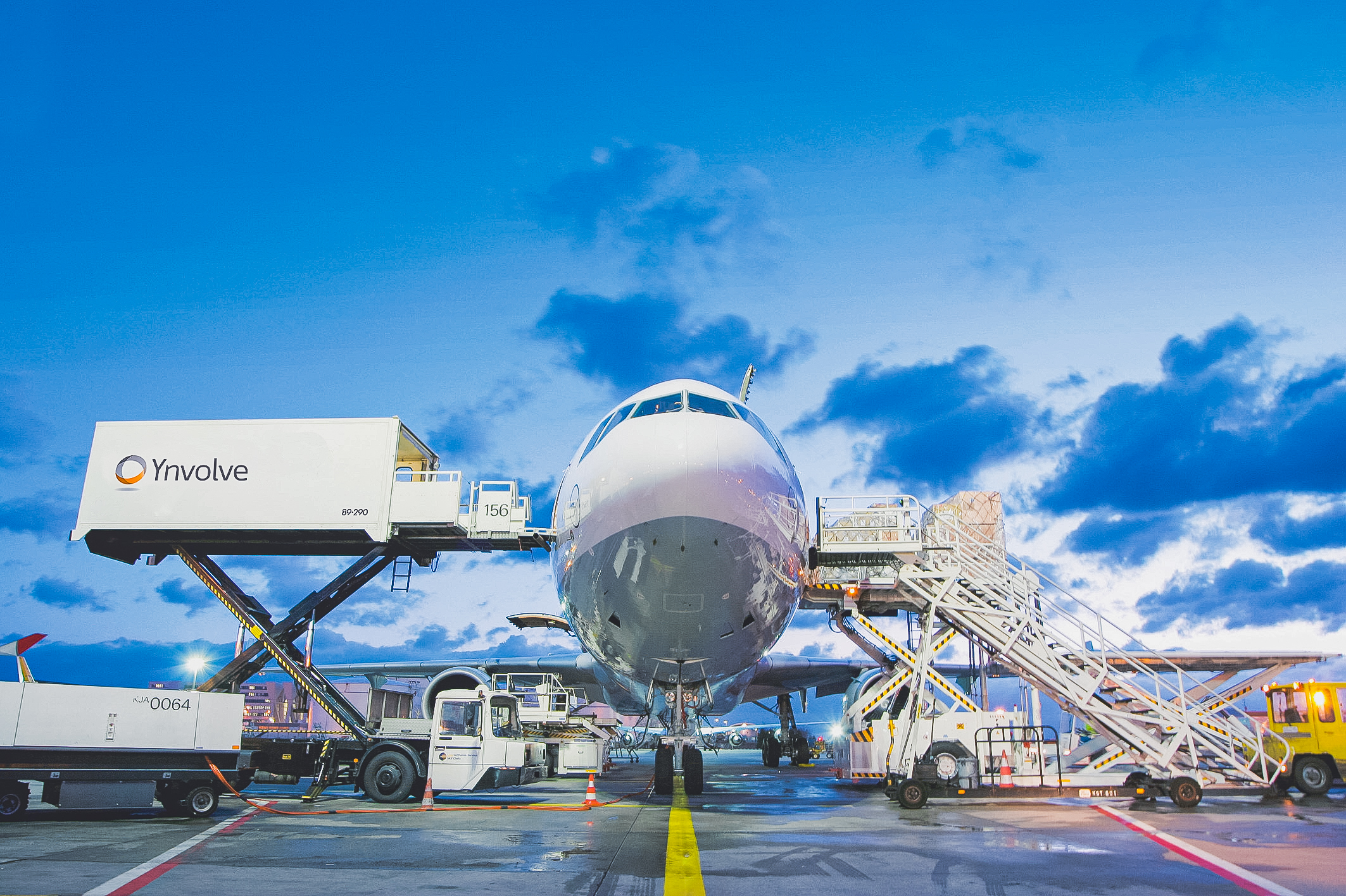 IT infrastructure moves with a large white plane
